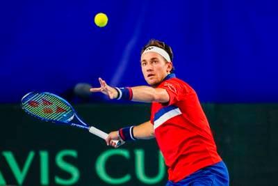 Ruud vant første kampen i Davis Cup for Norge