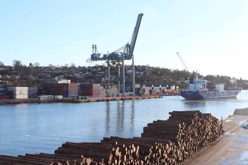 Moss Havn containerkaia, konteinerkaia