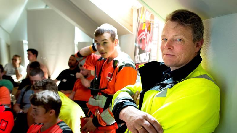 Regionalt verneombud Lars Mamen på besøk hos Veidekke i Drammen. Byggeplass, bygg