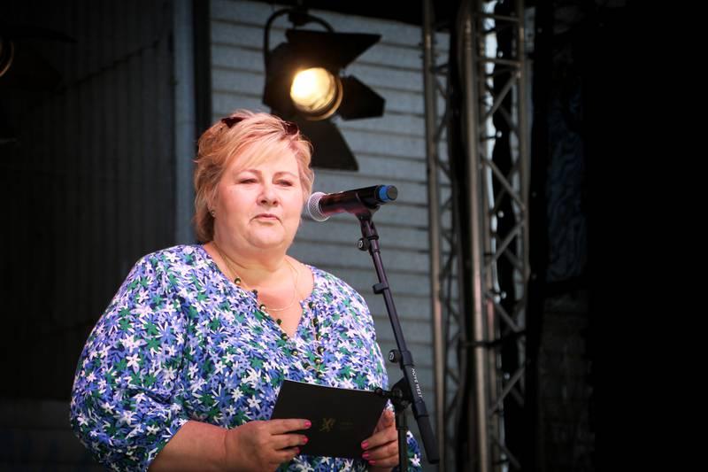 Statsminister Erna Solberg åpnet Gladmatfestivalen onsdag.