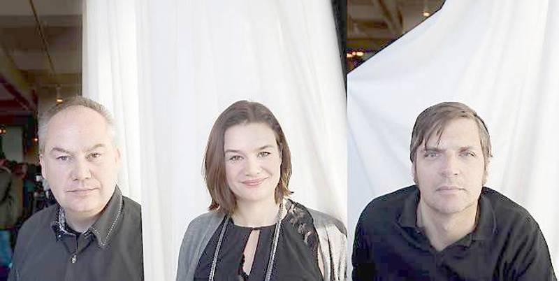Øyvind Rimbereid (t.v.), Ruth Lillegraven og  Nils Chr. Moe-Repstad er tre av de fire nominerte i klassen for skjønnlitteratur.