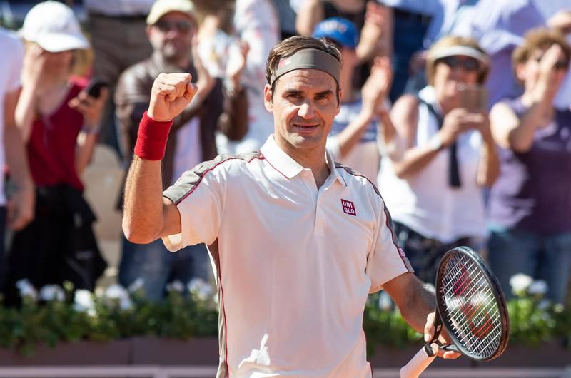PARIS, FRANKRIKE 20190531. Sveitsiske Roger Federer tok seieren i kampen mot Casper Ruud under Roland-Garros French Open 2019 turneringen i Paris.  Foto: Berit Roald / NTB scanpix