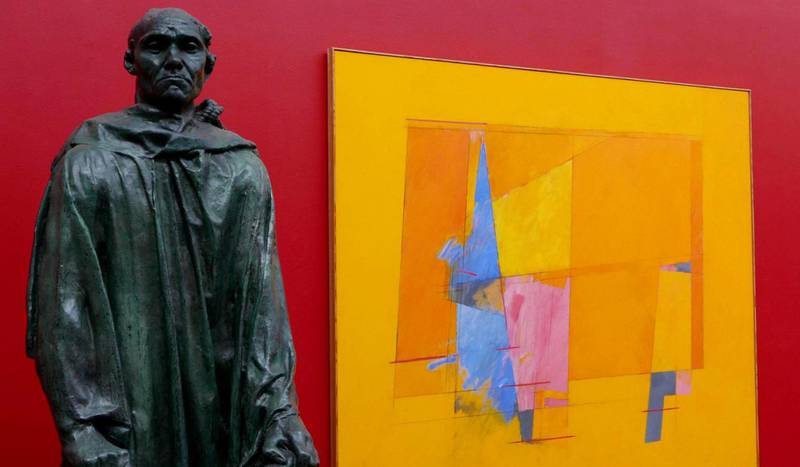 Utstillingen «Det felles eide» på Kunstnernes hus var usedvanlig frisk i anslaget. Auguste Rodins «Mannen med nøkkelen» (1884–86) skal tilbake til Solli plass i 2019. Irma Salo Jægers «Lyset brer seg» (1994) er ett av hennes hovedverk, eid av Oslo kommune.