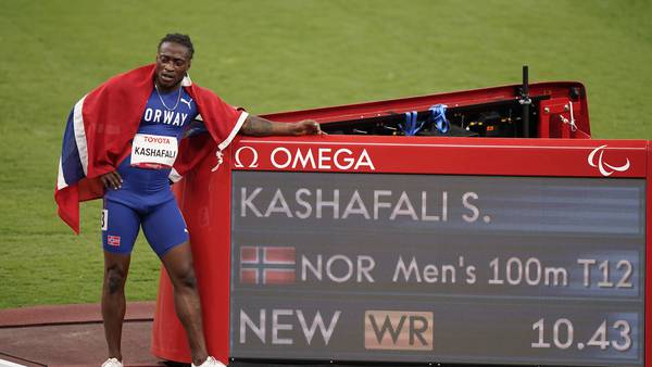 Gull og verdensrekord for Kashafali: – Jeg er bare helt fantastisk glad