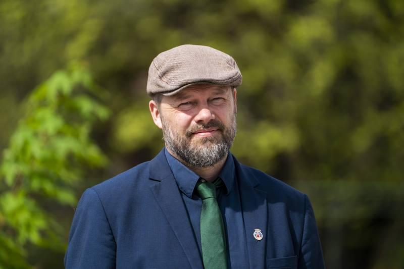 Byrådssekretær Rasmus Reinvang (MDG) vil ha billigere boliger for utvalgte grupper i Oslo. Foto: Terje Pedersen / NTB