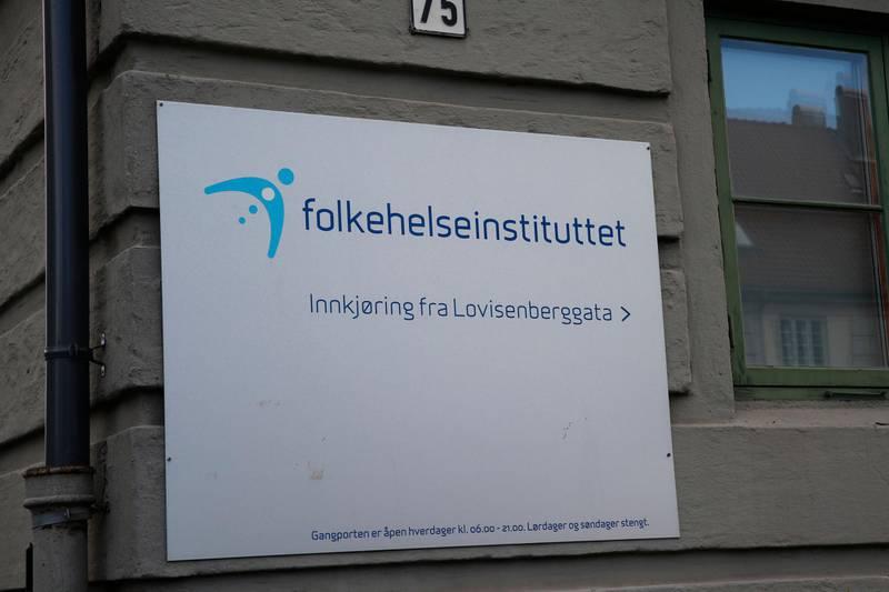 Oslo  20171025. Folkehelseinstituttet I Oslo. Foto: Terje Bendiksby / NTB