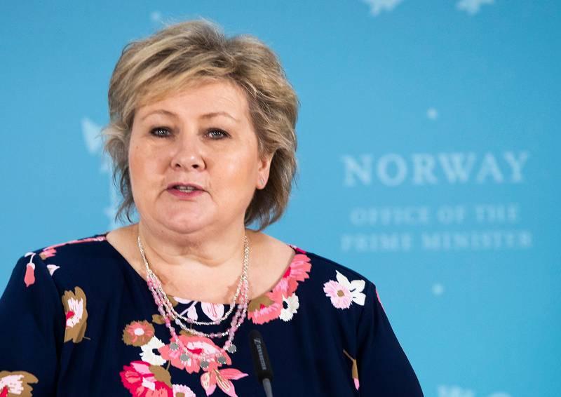 OSLO, NORGE 20200415. Statsminister Erna Solberg,  idet regjeringen holder pressekonferanse for barnFoto: Berit Roald / NTB scanpix