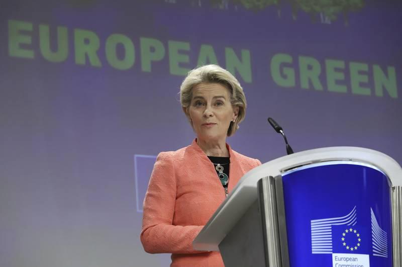 EU-kommisjonens president Ursula von der Leyen la i juli fram EUs klimaplan.