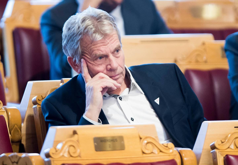Oslo 20191003.  Arne Nævra (SV) under trontaledebatten. Foto: Terje Pedersen / NTB