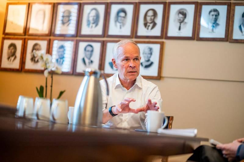 Kort tid etter at han overtok som finansminister, måtte Jan Tore Sanner (H) håndtere det han selv beskriver som det mest alvorlige sjokket for norsk økonomi i etterkrigstiden. Foto: Håkon Mosvold Larsen / NTB scanpix