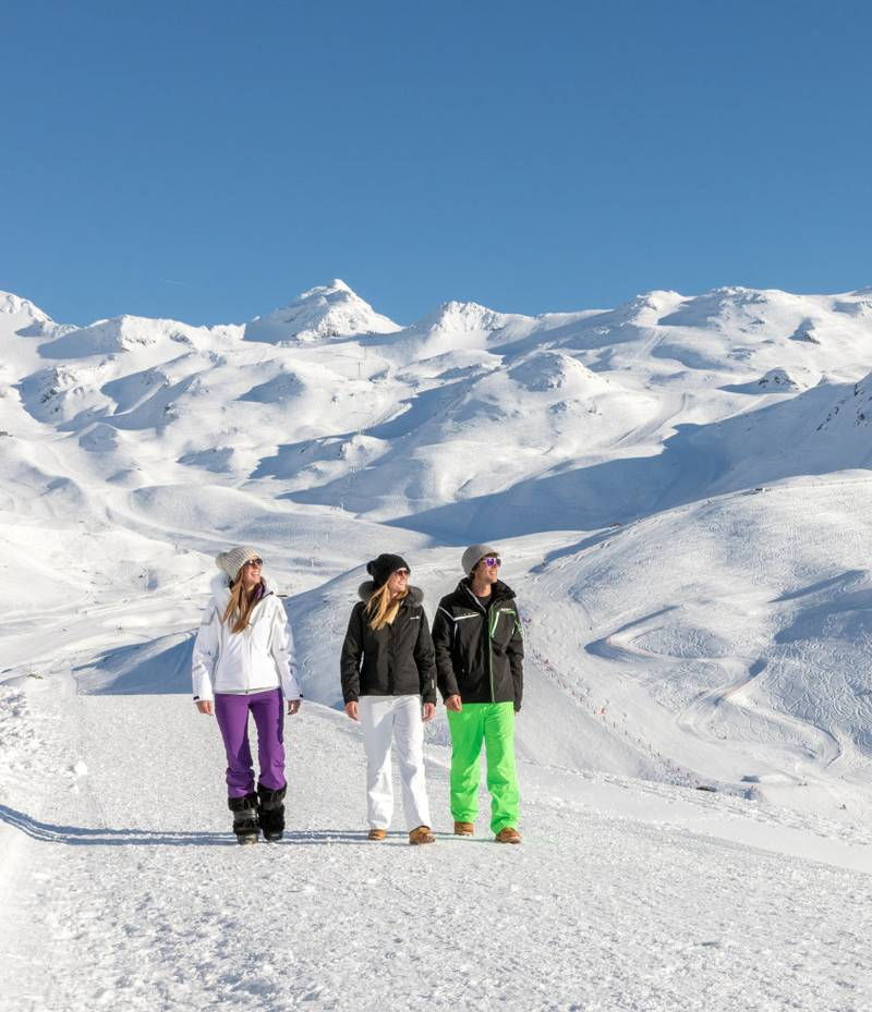 De franske skistedene, som Val Thorens, har også blitt flinke til å legge til rette for alpeferdsel uten ski på beina! FOTO: VAL THORENS