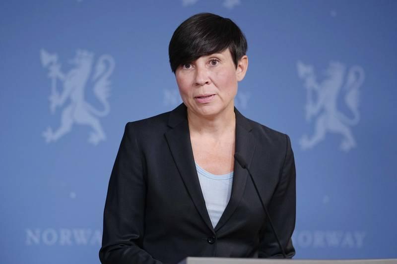 Utenriksminister Ine Eriksen Søreide (H) holder en orientering om Afghanistan. Foto: Fredrik Hagen / NTB / POOL