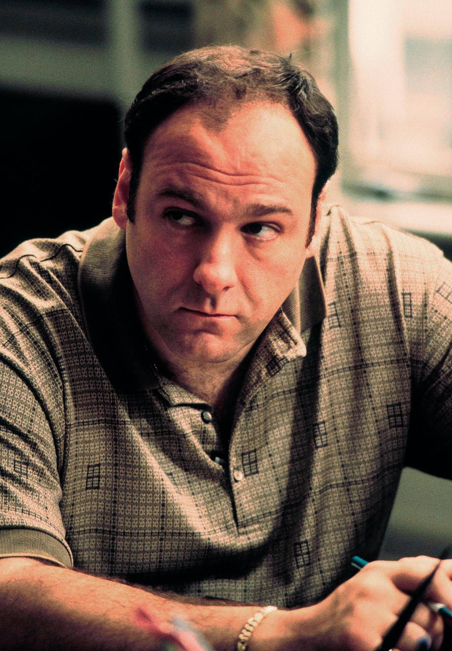 """James Gandolfini stars as Tony Soprano in the critically acclaimed HBO series """"The Sopranos."""" The show received 16 Emmy nominations Thursday, July 22, 1999, including best dramatic series and best actor for Gandolfini. It is the first cable show ever recognized in the dramatic series category. (AP Photo/HO, HBO, Anthony Nesta)"""