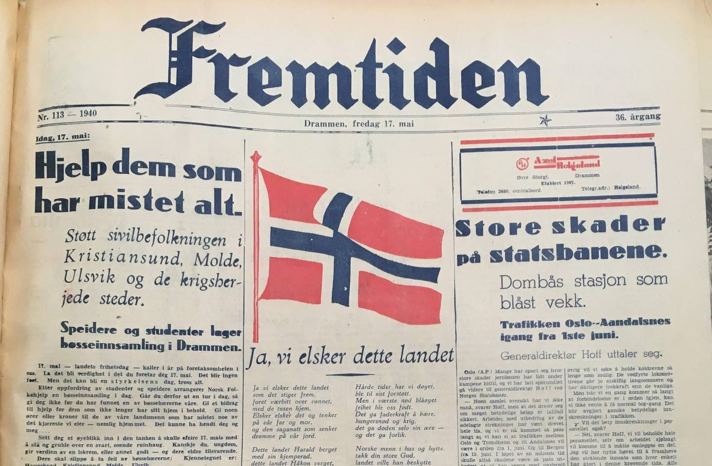 Avisen Fremtiden 17. mai 1940