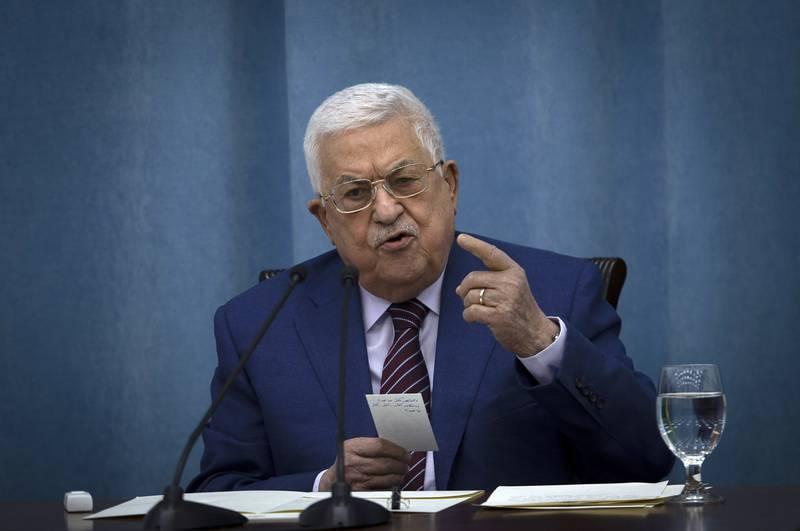Palestinernes president Mahmoud Abbas snakket torsdag med Angela Merkel på telefon. Foto: Majdi Mohammed / AP / NTB