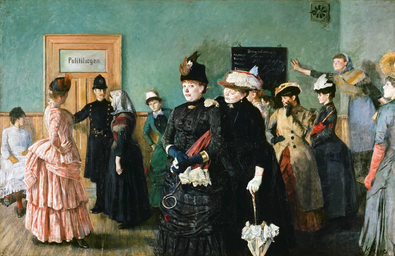 Den offentlige prostitusjonen med dobbeltmoral, kontroll og kjønnssykdommer utløste etableringen av Magdalenastiftelsen i 1859. Christian Krohgs maleri av den unge Albertine på politilegens venteværelse opprørte samtida.