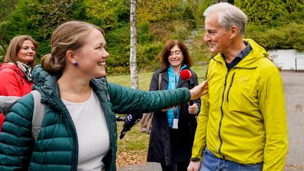 Bastholm møter Støre til samtaler på skogstur