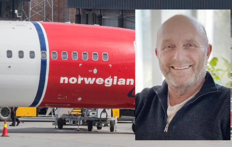 Sigmund Larsen (60) gikk til konkurrenten da Norwegian ga han gebyr for overvektig bagasje.