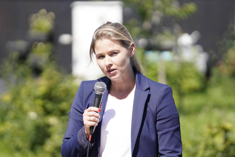 Oslo  20190628. Lucie Katrine Sunde-Eidem under Venstres oppsummerende pressekonferanse. Foto: Fredrik Hagen / NTB