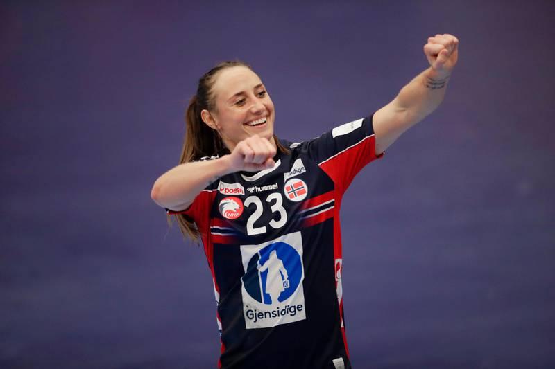 Kolding 20201205.  Camilla Herrem under EM kampen mellom Tyskland og Norge  i Sydbank arena. Foto: Vidar Ruud / NTB