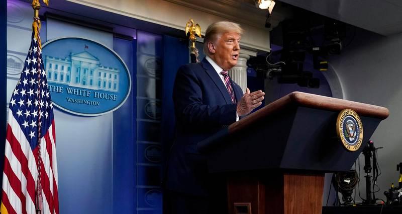 President Donald Trump speaks at the White House, Thursday, Nov. 5, 2020, in Washington. (AP Photo/Evan Vucci)