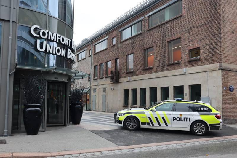 En kvinne ble onsdag arrestert inne på Comfort hotell på Union brygge.