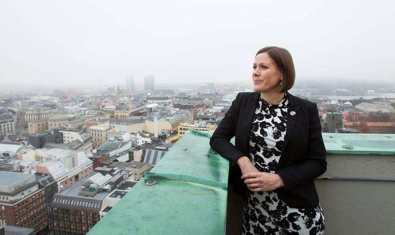 Byutviklingsbyråd Hanna Marcussen (MDG) sa til Dagsavisen før jul at salget av Hausmannskvartalet er en vanskelig sak                 for byrådet. FOTO: ARNE OVE BERGO