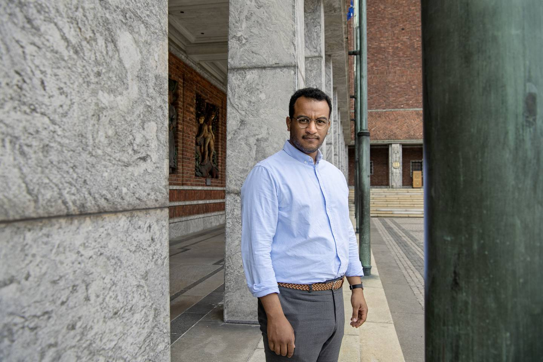 Omar Samy Gamal. Byråd for kultur, idrett og frivillighet. Kulturbyråd. Politiker (SV). Oslo rådhus.