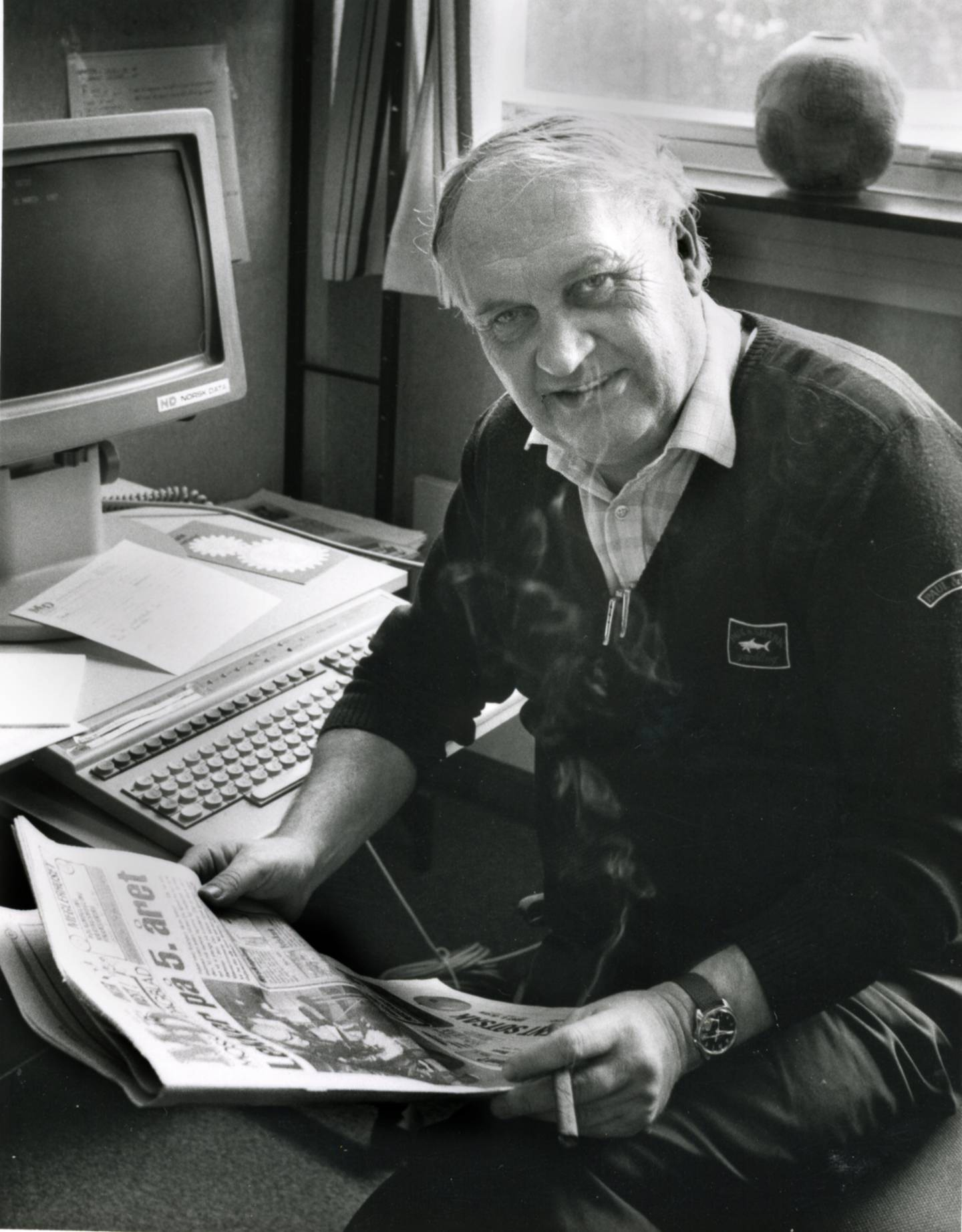 "Moss Dagblad-legenden Frank ""Montanus"" Berg"