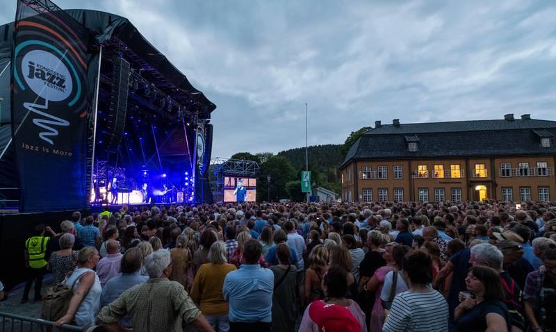Kongsberg  20180706. Fredagens headlinere på Kongsberg Jazzfestival A-ha på scenen. I følge konferansieren for første gang siden 1989. Foto: Tor Erik Schrøder / NTB