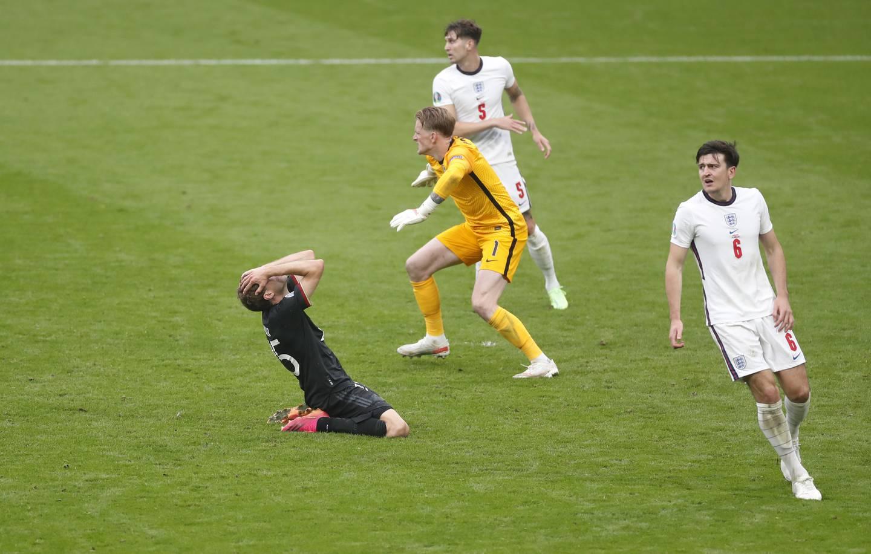 Thomas Müller scoret IKKE og Jason Pickford holdt fortsatt nullen. Foto: