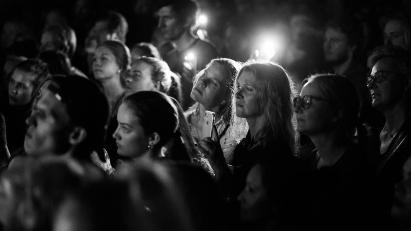 Publikum under Sigrid på Union scene. Foto: Haldor Åsheim