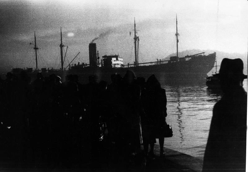 26. november 1942, da 530 norske jøder ble deportert til Auschwitz fra kaia ved Akershus. FOTO: GEORG W. FOSSUM/NTB SCANPIX