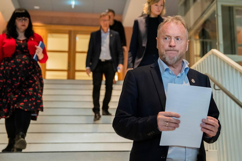 Oslo 20201008.  Byrådsleder Raymond Johansen  på pressekonferanse i Oslo rådhus om koronasituasjonen i hovedstaden. Foto: Jil Yngland / NTB