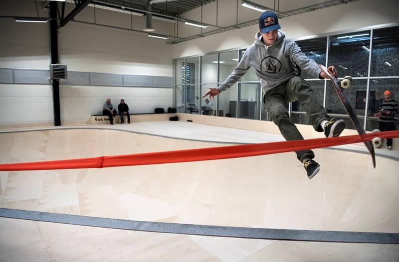 Mats Hatlem (16) åpnet Oslo Skatehall.