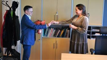 Siri Martinsen og Atle Ottesen på plass i nye kontorer