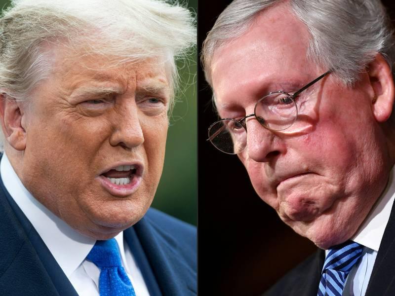 Det skal være isfront mellom Donald Trump og Mitch McConnell.