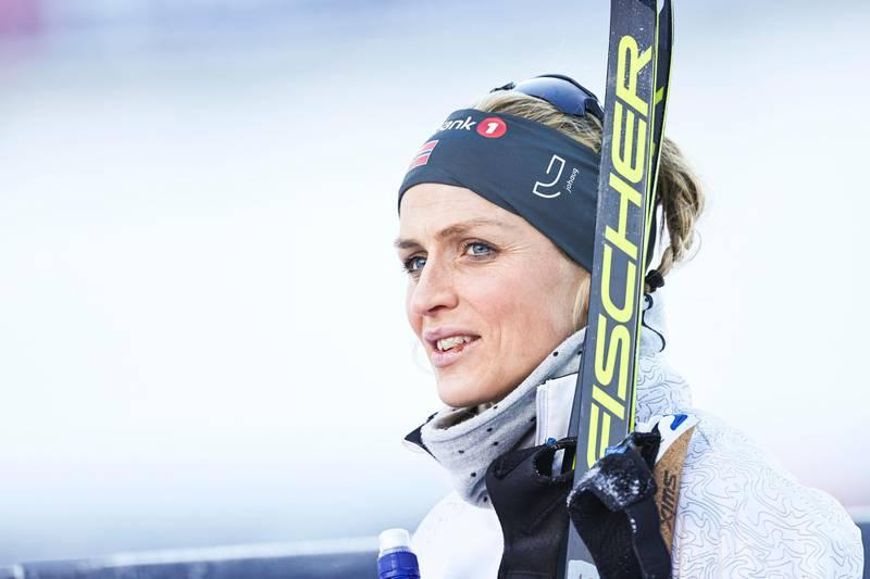 Trondheim 20210117.  Therese Johaug etter å ha vunnet kvinner skiathlon under NM på ski i Granåsen Foto: Geir Olsen / NTB