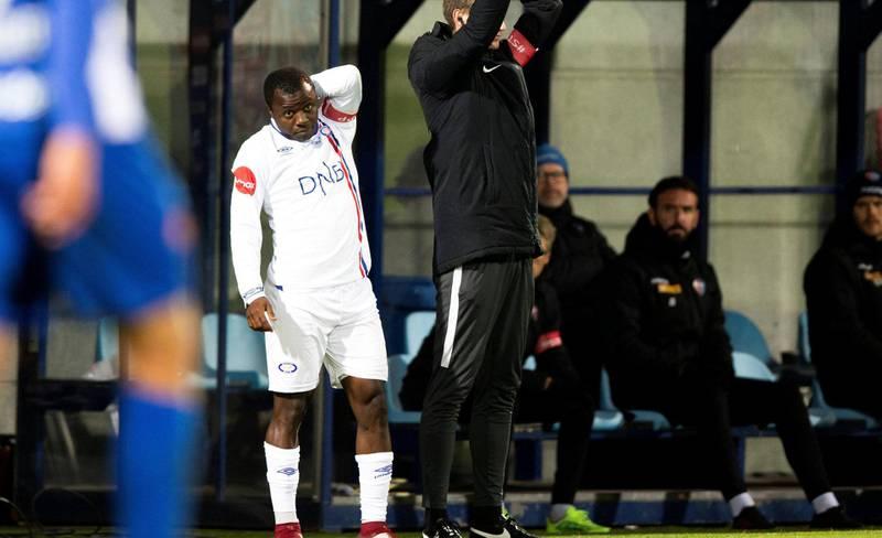 Ousmane Camara kom inn som innbytter i siste minutt. Foto: Trond Reidar Teigen / NTB