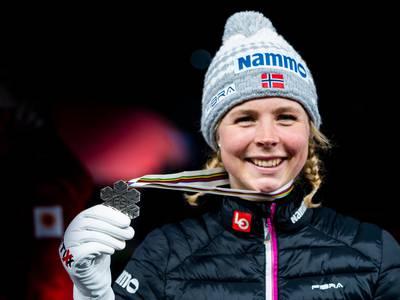 Maren Lundby tok VM-sølv – sesongens første pallplass