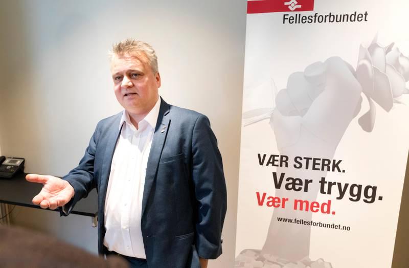 Oslo 20200310.  Leder i Fellesforbundet Jørn Eggum under oppstarten av årets lønnsoppgjør. Foto: Gorm Kallestad / NTB scanpix