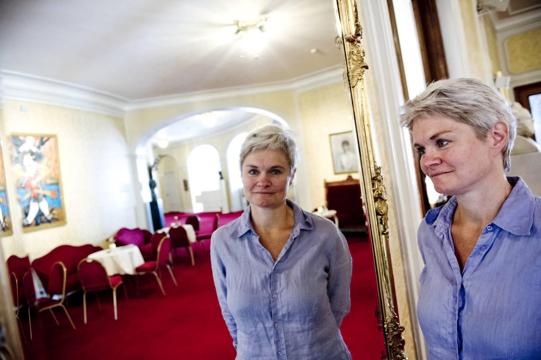 Oslo  20150813. Marta Færevaag Hjelle  presenteres som ny direktør i Nationaltheatret under teatrets sesongåpning torsdag formiddag.