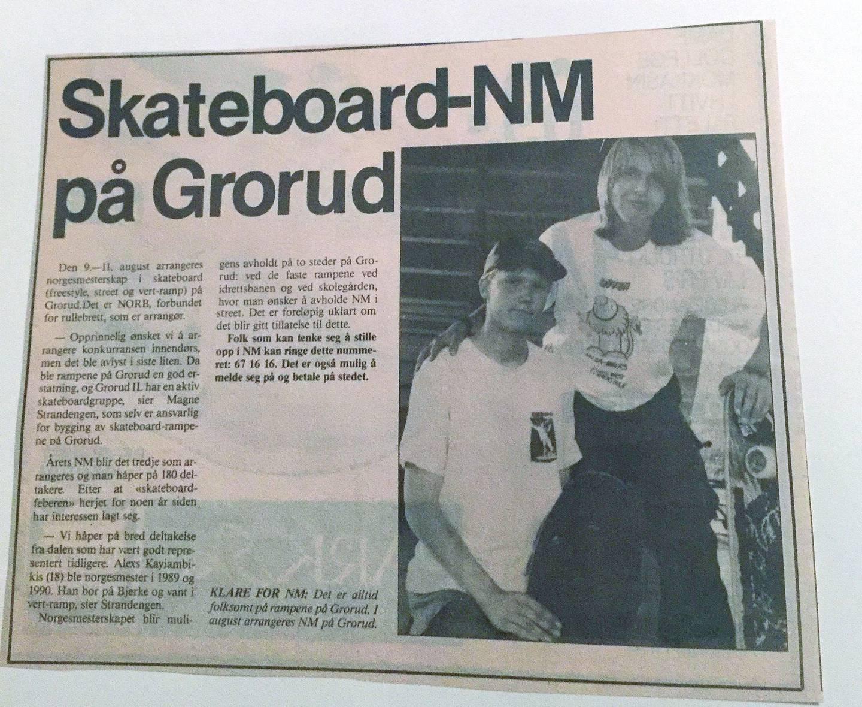 Stian Linnes sammen med Thomas Langren før NM på Grorud i 1991.