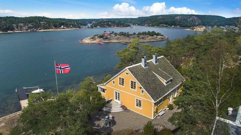 HANKØSUNDET: Denne ligger ute til salgs for 18 millioner, og er den nest dyreste i Fredrikstad og Hvaler før påske.
