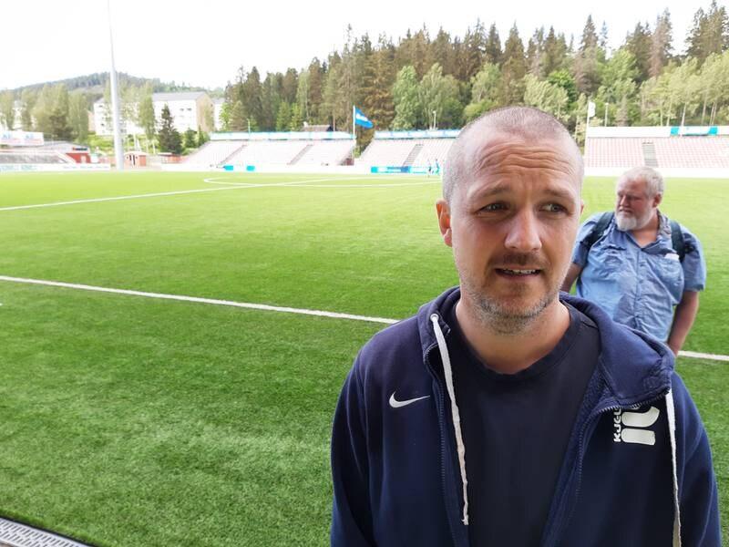 Eivind Kampen på Gjemselund. Treningskamp sommeren 2021. 4-2