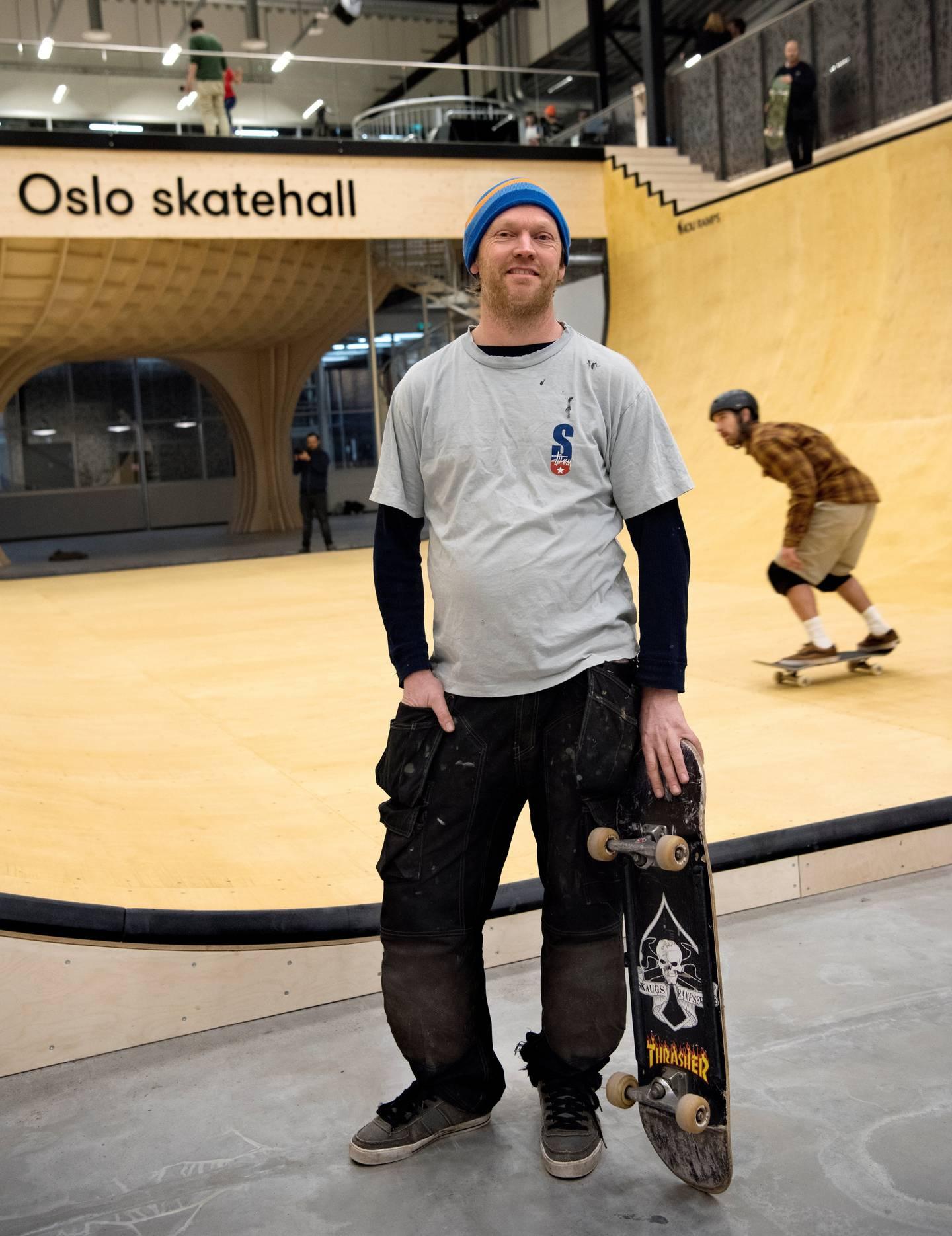 Philip Skaug bygget skatepark på Voldsløkka allerede i 1998.