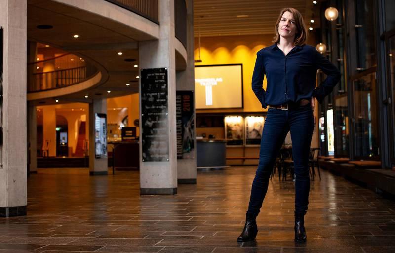 Teatersjef Elisabeth Egseth Hansen ved Trøndelag Teater er ikke fornøyd at spleiselaget trues.                                                           Foto: Terje Visnes/Trøndelag Teater