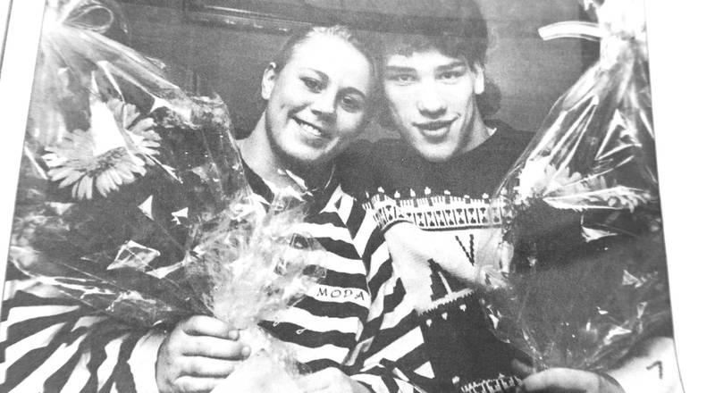 Line Johansen og Knut Steinar Isaksen var landets beste brytere i første halvdel av 1990-tallet. Begge er kongepokalvinnere i NM, og Line Johansen er også verdensmester to ganger. Foto: Moss Dagblad
