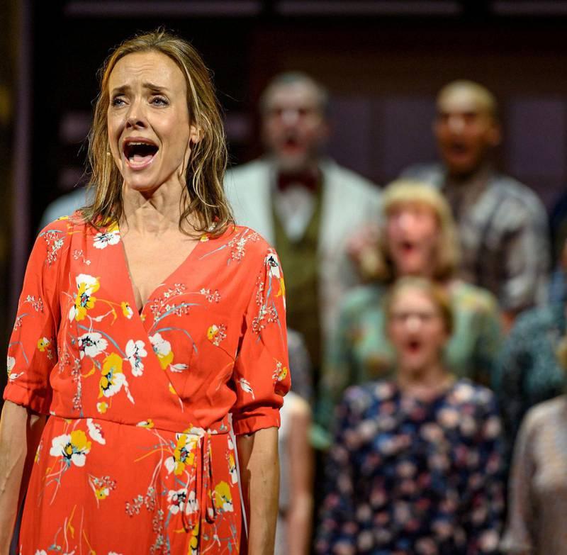 Fra musikalen «Så som i himmelen», med Jannike Kruse. Foto: Lars Opstad/Oslo Nye