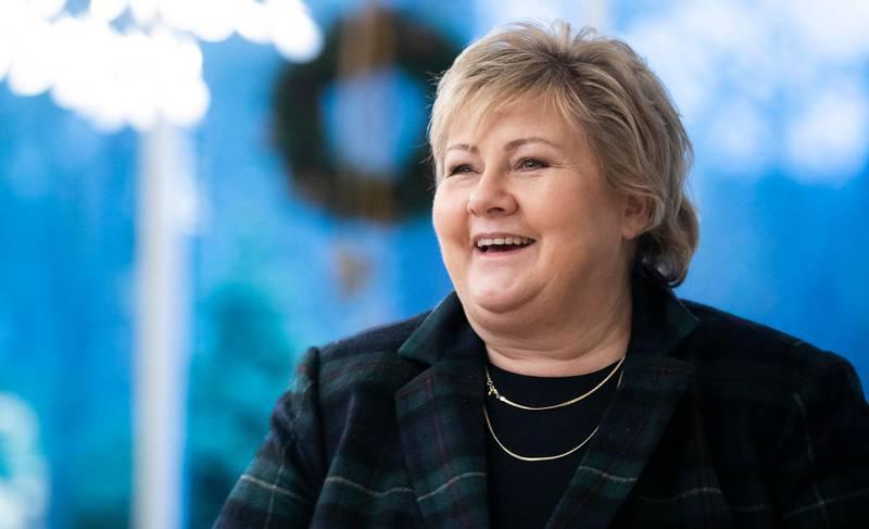OSLO, NORGE 20201219.  Juleintervju med statsminister Erna Solberg (H).  Foto: Berit Roald / NTB